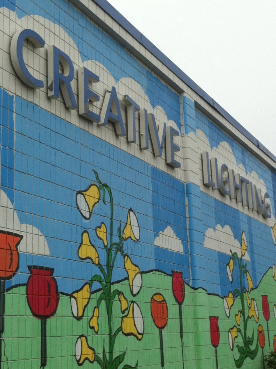 Creative lighting is getting a mural makeover by chank diesel for Mural lighting